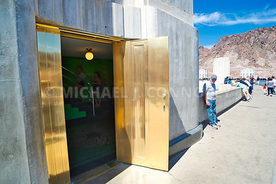 Art Deco Ladies Room Door -Hoover Dam & Michael J. Connolly - Photography | Hoover Dam- Boulder City Nevada