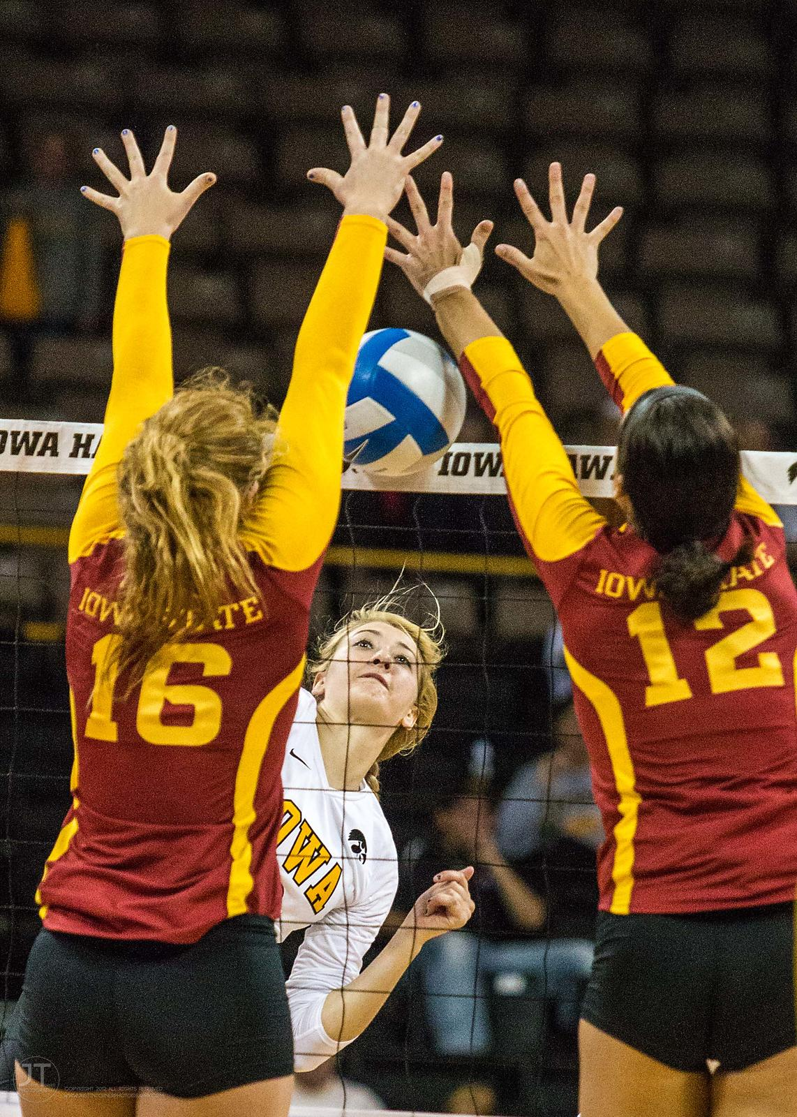 Volleyball Iowa State vs Iowa, Sept 21, 2013 photos