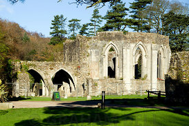 Cistercian Chapter House, Margam Manor Country Park, Port Talbot, Wales.