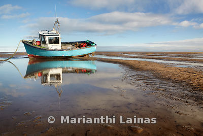 Fishing boat at Meols