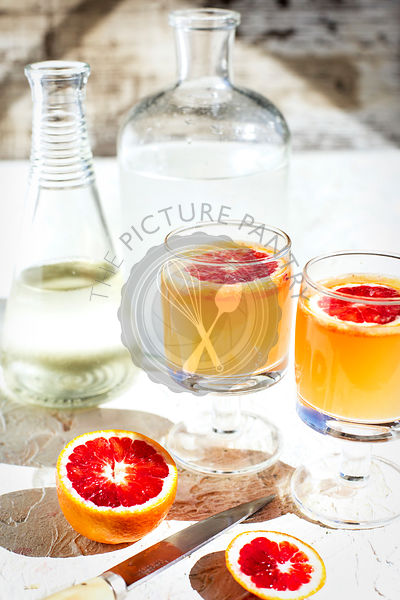 Blood Orange Lime Spritzer.