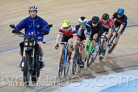 Men Keirin 7-12 Final. Track O-Cup #2, Mattamy National Cycling Centre, Milton, On, January 15, 2017