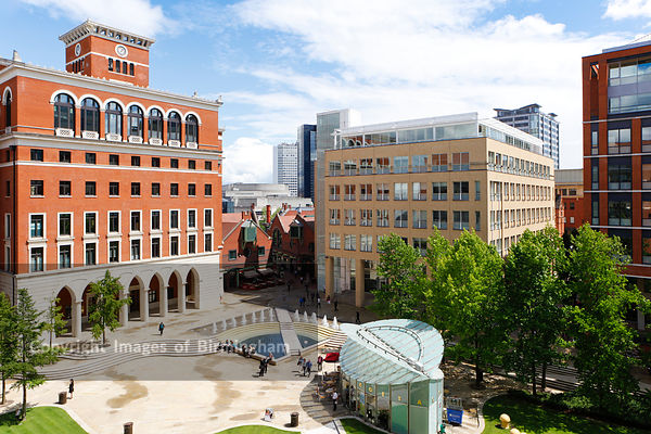 Central Square in Brindleyplace, Birmingham, England, UK