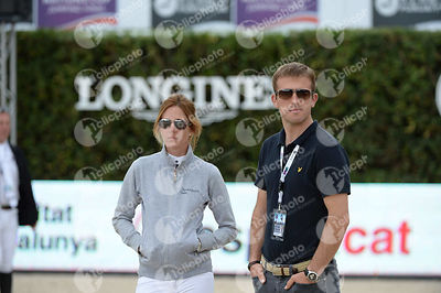 Angelie VON ESSEN ,(SWE), Richard DAVENPORT, (GBR) during Queen's Cup - Segura Viudas Trophy competition at CSIO5* Barcelona at Real Club de Polo, Barcelona - Spain