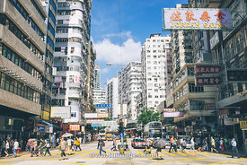 street scene in Jordan of Hong Kong