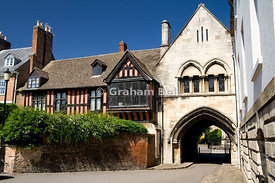 St Mary's Gate, Cathedral Precinct, Gloucester, Gloucestershire, England.