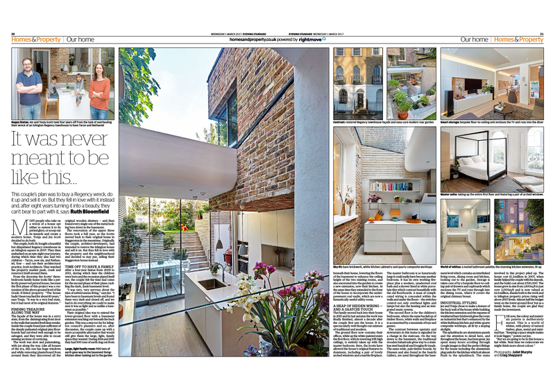 Scott Architects - Evening Standard 01 Feb 2017 - London UK