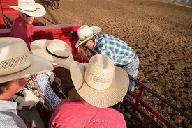 Cowboys getting ready for rodeo at Bryce Canyon Country Rodeo in Utah.