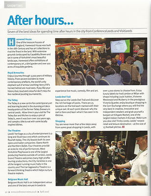 Conference News magazine - Leeds After Hours - April 2016