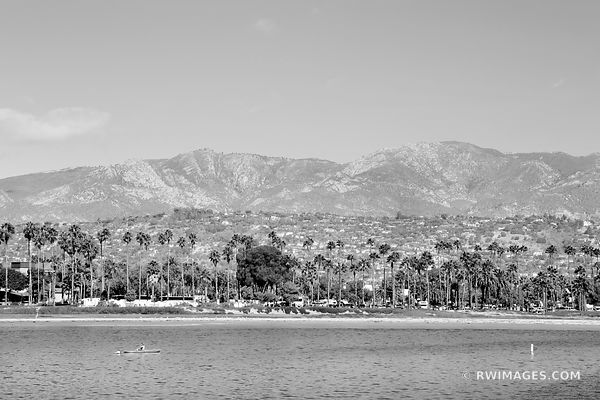 SANTA BARBARA CALIFORNIA BLACK AND WHITE HORIZONTAL