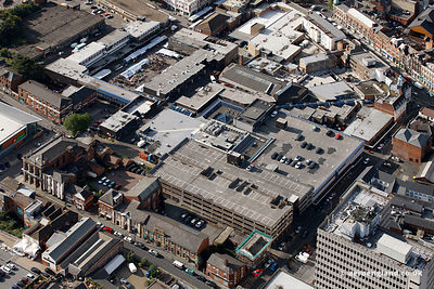 aerial photograph of The Old Square Shopping Centre 18 Old Square Walsall West Midlands WS1 1QA,  England UK