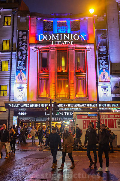 London's Dominion Theatre at Night