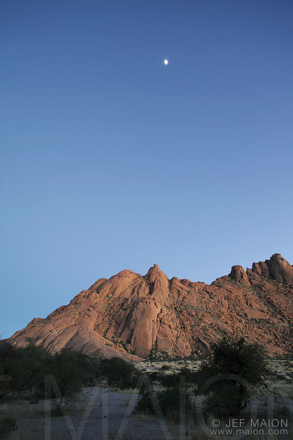 Rock mountain at dawn
