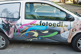 A commercial car of a digital photo studio in Poreč, Croatia.