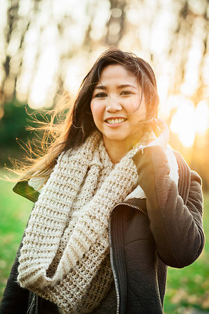 Young Asian woman outdoor portrait