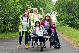 Taylor Wimpey Burnside View development, Bargeddie, Coatbridge..3.6.18..Taylor Wimpey volunteers help to clean up the area along Luggie Burn..Pics show volunteers:.Linda Barrett (red hair), Rachael Parnis (pink top), Alison Todd (grey top) and Lynda Mills (blonde hair)..They were accompanied by Community Council chairman Richard O'Hara...Free PR use for Taylor Wimpey..More info and Press Release from:.Hazel Taylor .Red Angel PR (Edinburgh) Ltd .4 Macfie Loan .Colinton .Edinburgh .EH13 0FP .0131 441 9803/07709317289 .hazel.taylor@redangelpr.co.uk..Pictures Copyright: Iain McLean.79 Earlspark Avenue.G43 2HE.07901 604 365.www.iainmclean.com.photomclean@googlemail.com.07901 604 365.ALL RIGHTS RESERVED.NO SYNDICATION.