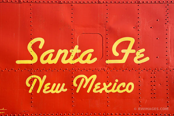 OLD RED CABOOSE SANTA FE NEW MEXICO
