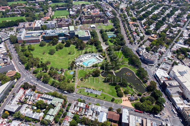 Sydney Aerial Photography Victoria Park Camperdown