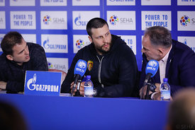 Stojanche Stoilov during the Final Tournament - Final Four - SEHA - Gazprom league, Press conference in Brest, Belarus, 06.04.2017, Mandatory Credit ©SEHA/ Uros Hočevar