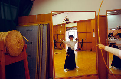 Japan - Kyoto - A kyodo practitioner practices