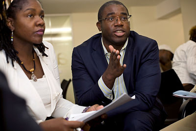 UK - London - David Lammy MP takes part in  discussion about gang culture