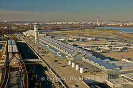 Aerial photograph of Ronald Reagan (Washington National) DCA Airport