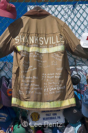 Shanksville Firefighter's Coat at Flight 93 Memorial