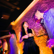 Interior of night club with people dancing, The Fort, Makati City, Manila, Philippines