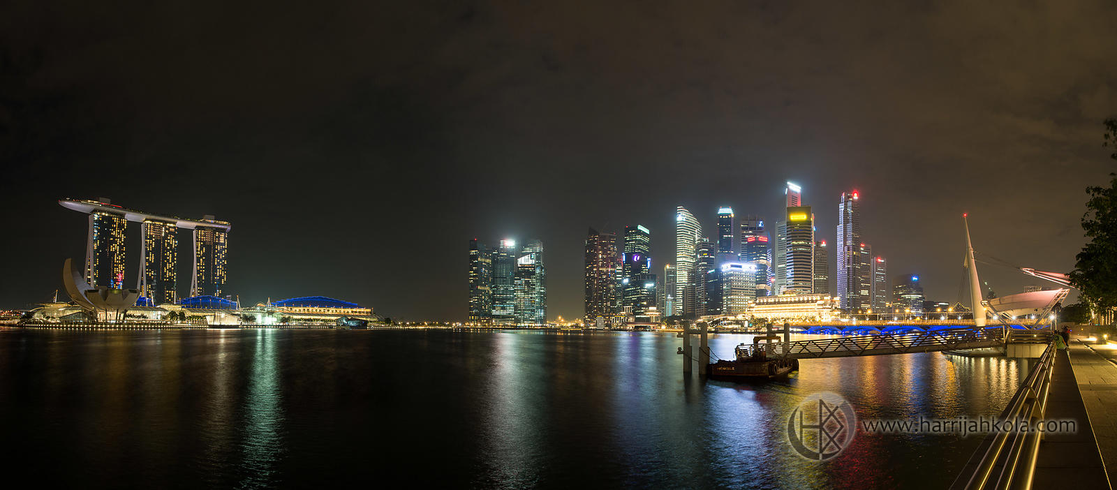 Singapore (Harbor Nighttime Panorama V)
