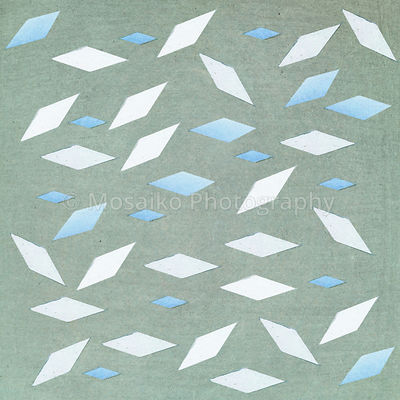 rhombus shape on textured background - illustration - pastel tones - abstract graphic design