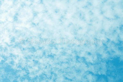 bright blue sky and white clouds