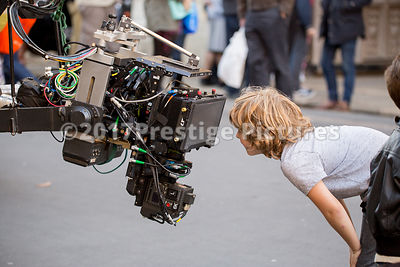 Members of the Public allowed to get up close to Cameras and Grip equipemt during a break in filming Transformers 5 in Oxford