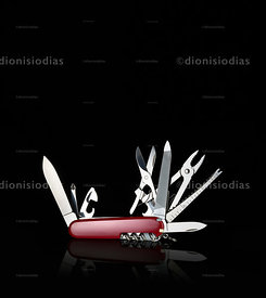 Knife in black background