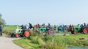 Katwoude, Netherlands - 2018-09-02: The first tractors start moving
