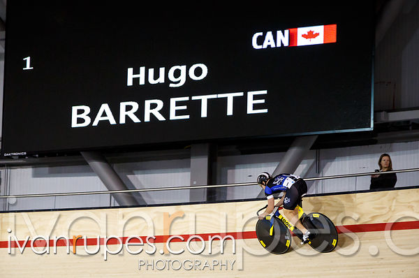 Hugo Barrette at the 2014 Canadian Track Championships, Milton, On, January 4, 2015