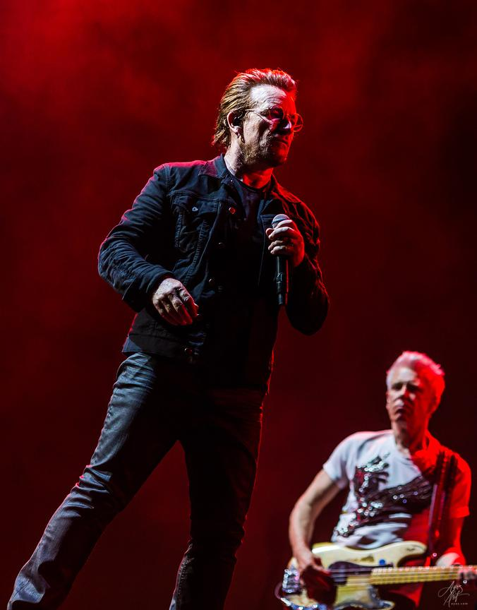 Bono and Adam Clayton - FedEx Field in Landover, Maryland