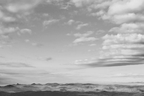 APPALACHIAN MOUNTAINS BLUE RIDGE PARKWAY BLACK AND WHITE