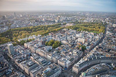 St James's Square, St. James's, Aerial view. London