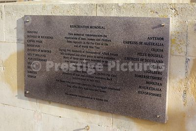 Plaque remembering the Repatriation to Liverpool of Captives held in the Far East during WWII