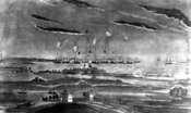 Bombardment of Fort McHenry during War of 1812