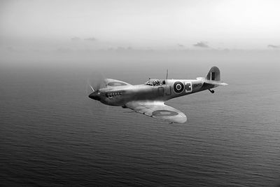 Spitfire EN152 over Gulf of Tunis