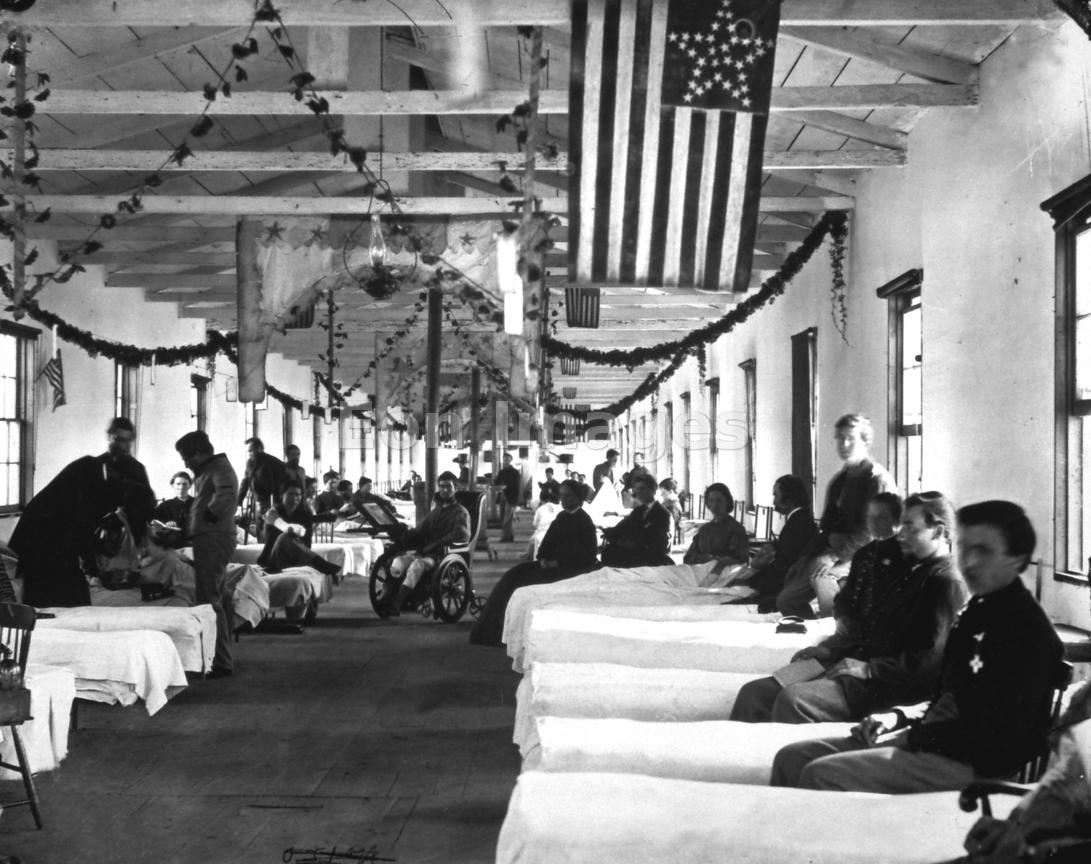 Scene at Union hospital during Civil War