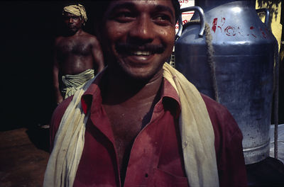 India - Kerala - A portrait of a milkman
