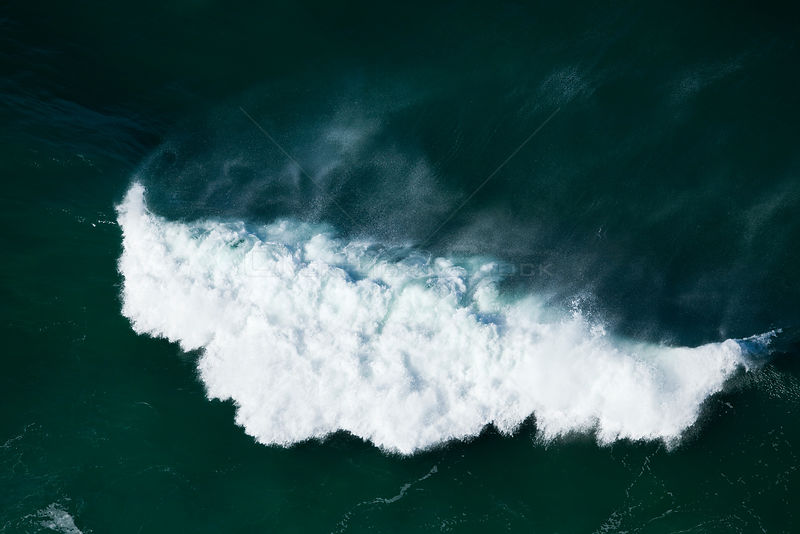 Aerial photograph of breaking wave, Cape Agulhas, South Africa, Western Cape Province, Indian Ocean, August 2009