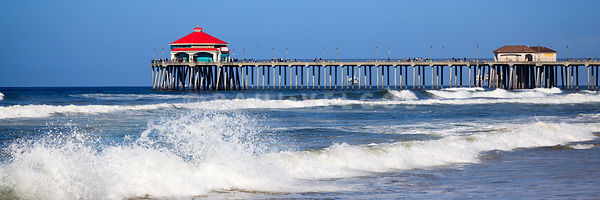 Huntington Beach Pier Panoramic Photo