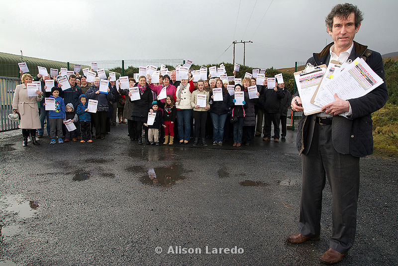 Dr Jerry Cowley - Mulranny Fire Station petition. PHOTO: ALISON LAREDO
