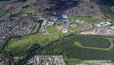 aerial photograph Sherwood Energy Village New Ollerton Nottinghamshire England UK