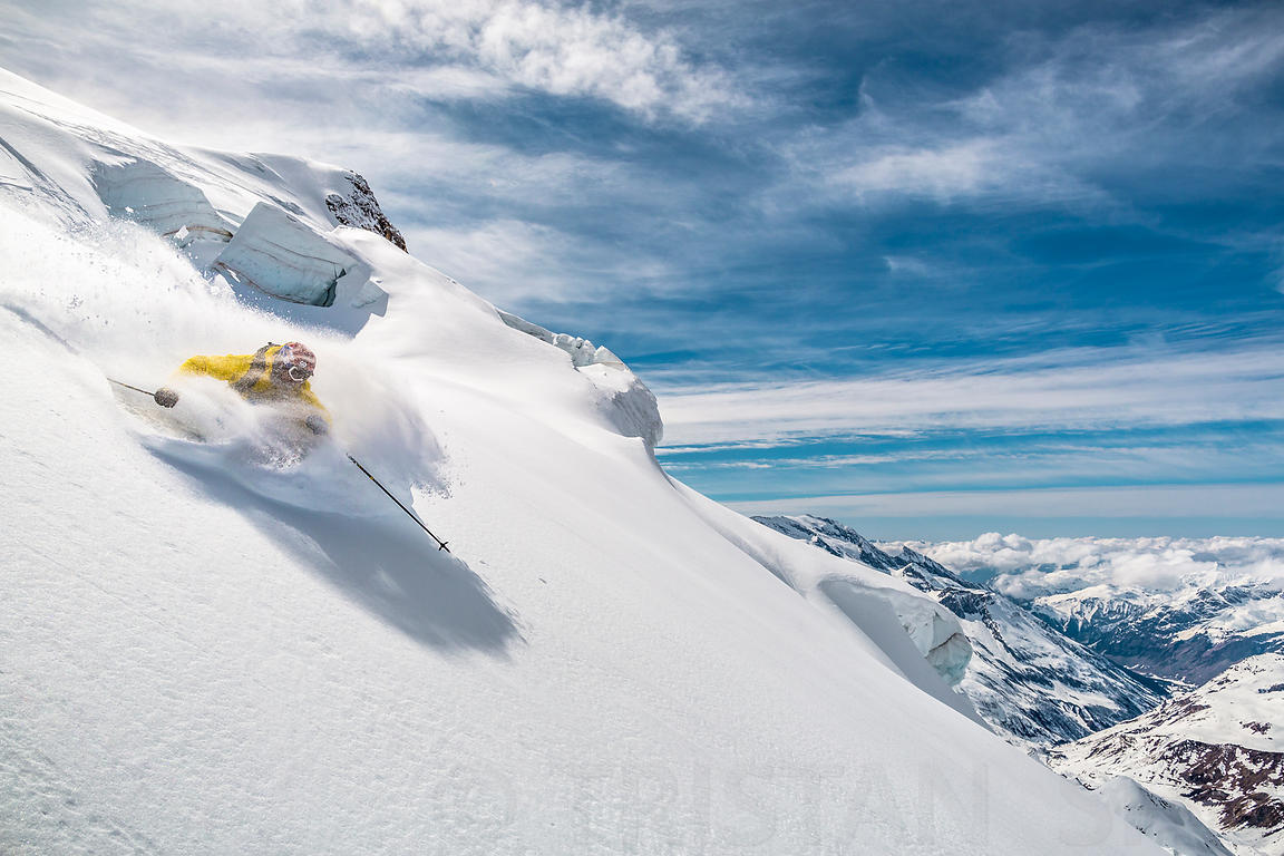 Powder on the north face with Adrien Coirier