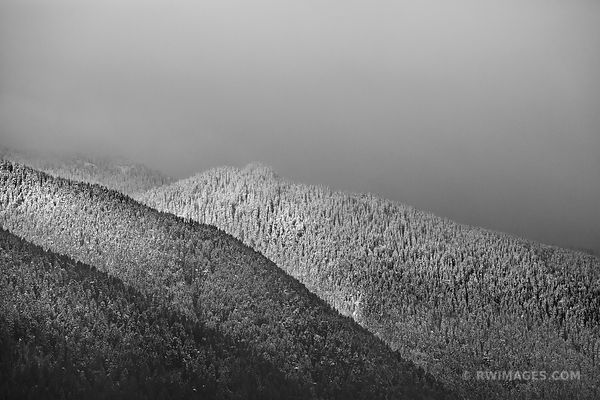 SNOWY MOUNTAINS OLYMPIC NATIONAL PARK BLACK AND WHITE