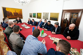during the Final Tournament - Final Four - SEHA - Gazprom league, reception by Varazdin major, Varazdin, Croatia, 02.04.2016, ..Mandatory Credit ©SEHA/Stanko Gruden